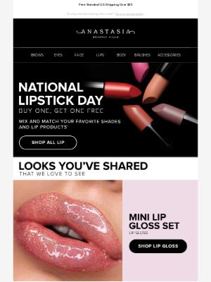 Happy National Lipstick Day! 💄