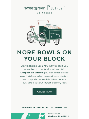sweetgreen - sg is popping up for pickup near you