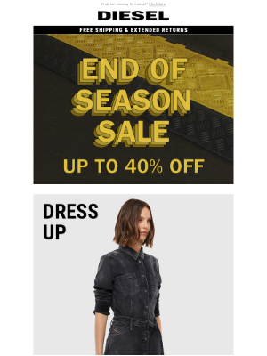 Diesel - 40% Off Exclusive for D:CODE – Dress Up for the Holidays with our End of Season Sale