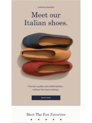 Beautiful. Italian-crafted. Shoes.
