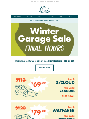 Chaco - LAST CALL for up to 60% off
