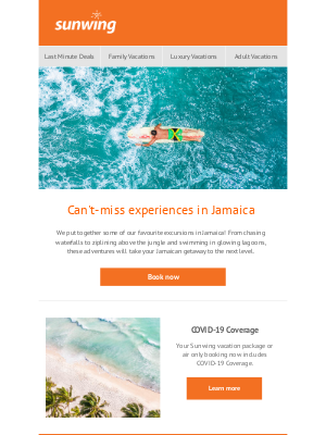 Sunwing Vacations Inc. (CA) - Can't-miss experiences in Jamaica!