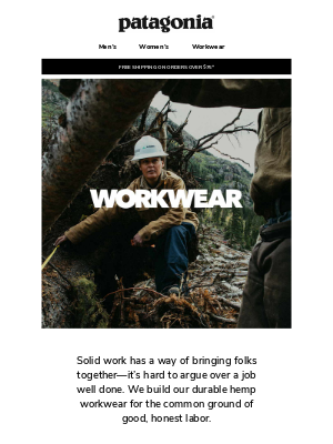 Industrial hemp workwear for the greater good