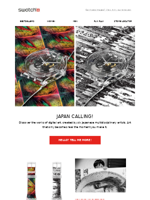 Swatch - Japan's Calling! Your style should pick up.