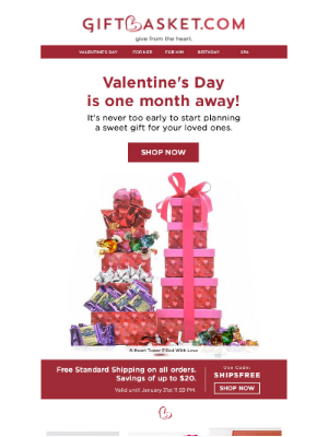 Gift Basket - 💝 Start Planning Your Valentine's Day Gifts