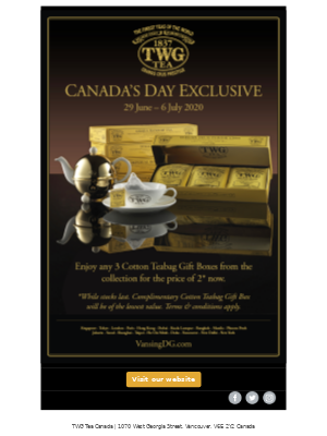 Canada's Day Exclusive(29 June- 6 July 2020)