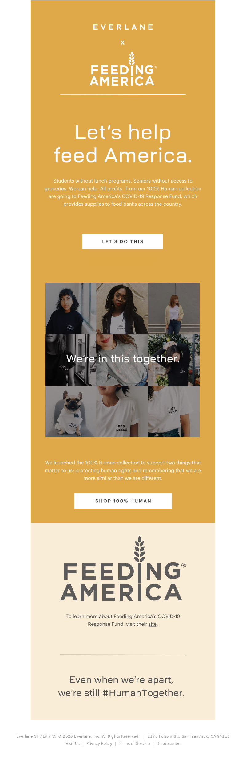 Everlane - Let's Help Our Fellow Humans