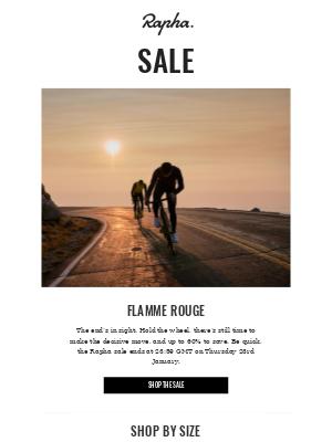 The Rapha sale ends tomorrow