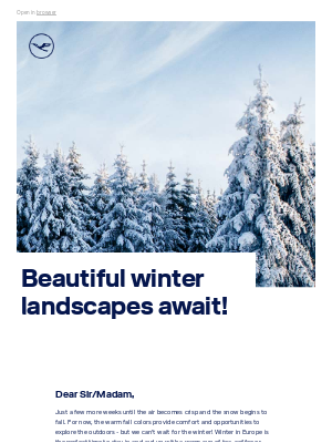 Lufthansa - Dreaming of a European winter