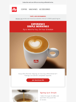 illy - illy Delivers | 20% off Recurring Coffee Orders
