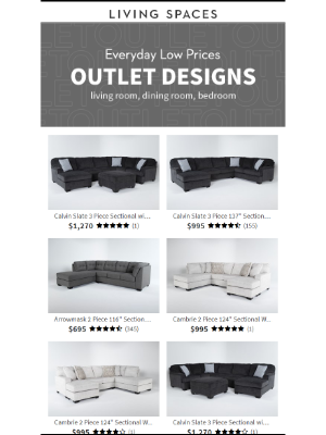 Living Spaces - Outlet Blowout!