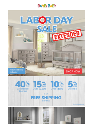 Bambi Baby Store - ⏰ Last Day to Save on our 2020 Labor Day Sale - Don't Miss Out!