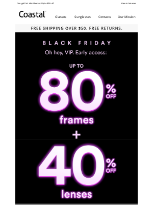 Coastal - Black Friday Early Access: You're in!