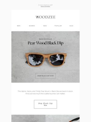 BACK IN STOCK: Pear Wood Black Dip
