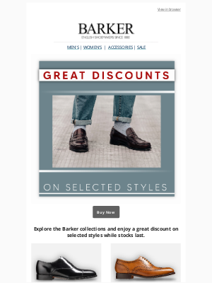 Enjoy Great Discount on Selected Style