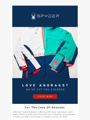 Spyder Active Sports - Anorak: 'A person who has a very strong interest, perhaps obsessive, in niche subjects.'