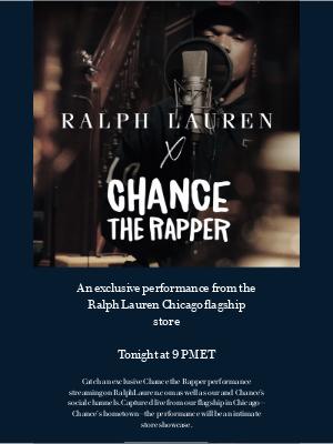 Ralph Lauren - Tonight: Chance the Rapper at Ralph Lauren Chicago