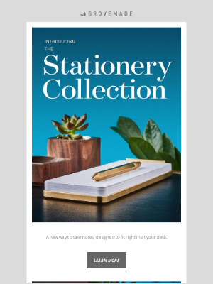 Grovemade - Introducing the Stationery Collection