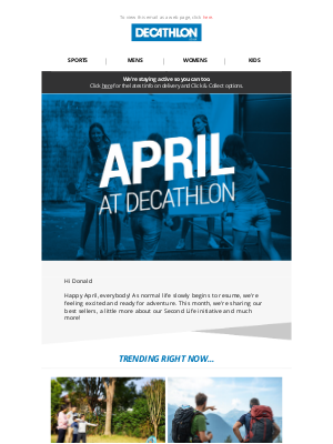 Decathlon (UK) - April at Decathlon | Outdoor Games, Second Life and more...