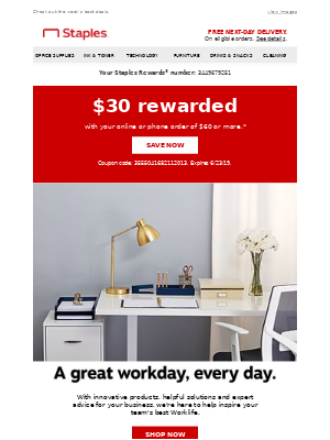Exclusive! $30 rewarded to YOU!