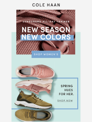 NEW ZERØGRAND All-Day Trainer colors for spring