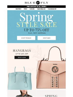 Bluefly - Spring Style Sale up to 75% Off!