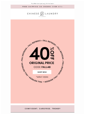 Chinese Laundry - Our Fall Picks: Now 40% Off