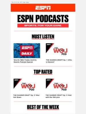 ESPN - 🎧 Listen to The Woj Pod Special: Drafting Giannis