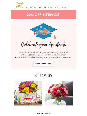 🎓 Say ConGRADulations With 20% Off