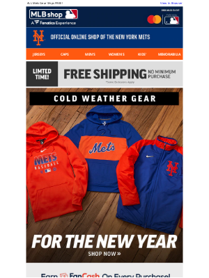 Mlbshop - We've Got Your Covered - Cold Weather Gear + Free Shipping!