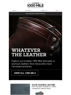 Wolverine - A Leather for Every Style