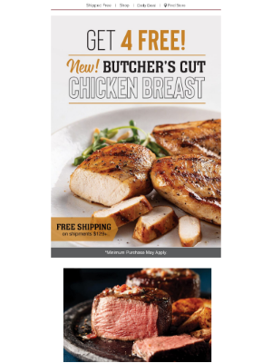Omaha Steaks - The best chicken breasts of your life. Get 4 FREE Today!