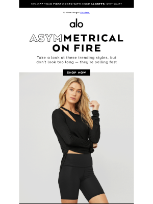 Alo Yoga - GOING OUT? STEP IT UP ✨ ASYMM IS IN