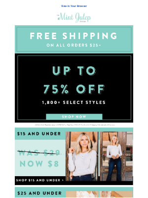 The Mint Julep Boutique - one of the biggest sales of year!