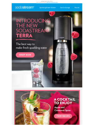 SodaStream - Introducing Terra - With a Cocktail 🍸