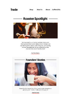 Trade Coffee - Our Fave Local Stories