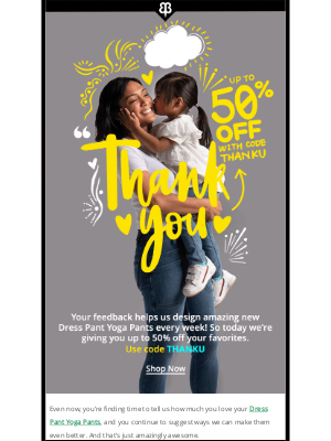 We Want To Say Thanks With A Very Special Offer