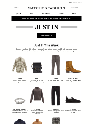 Matches Fashion (UK) - Just In: Gucci, Saint Laurent and The Row