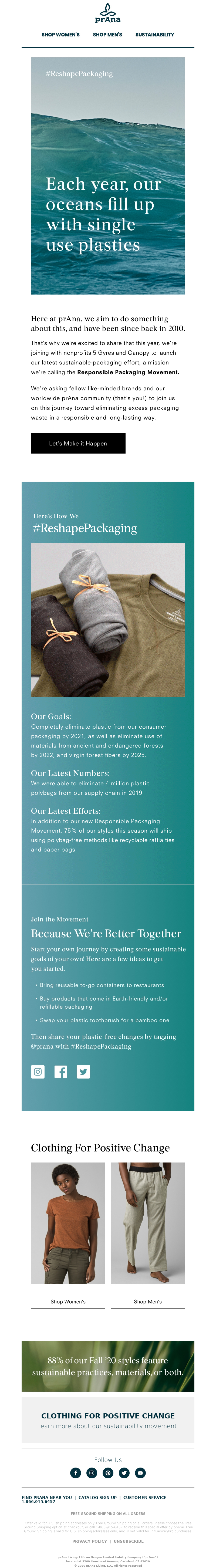 prAna - Join the Responsible Packaging Movement