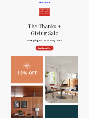 Design Within Reach - Save on EVERYTHING for your home!