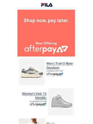 Introducing Afterpay!