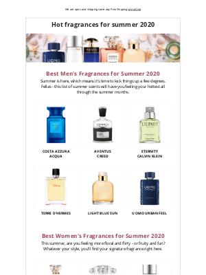 The Hottest Fragrances for Summer 2020