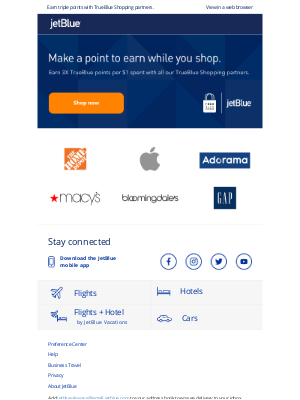 JetBlue Airways - 3X points? They're in the bag.
