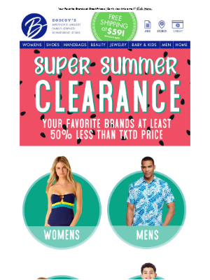 Super Summer Clearance