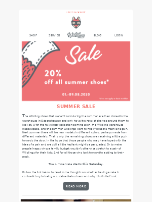 Summer, Sale & Sizing
