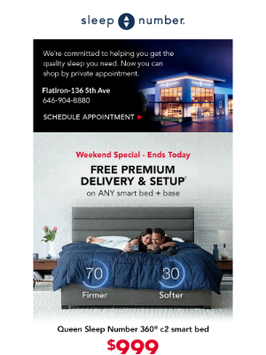 Sleep Number - ⏳ Our Weekend Special ends today! Shop now.