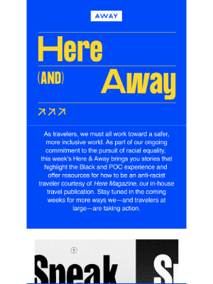 Away - How to be an anti-racist traveler