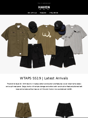New Arrivals: WTAPS | Final Markdowns: Up to 50% Off