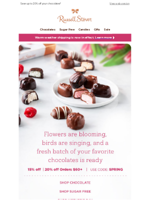 Russell Stover Candies - 🌺 Happy Spring Sale 🌺