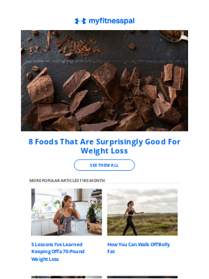 MyFitnessPal - ICYMI: 8 Foods That Are Surprisingly Good For Weight Loss